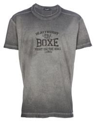 Dolce & Gabbana Gray Boxe Tshirt for men