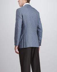 Ermenegildo Zegna Check Sport Coat Light Blue for men