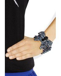 Miu Miu Metallic Crystal Bow Bracelet