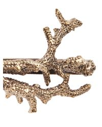 Pluie - Metallic Coral Hair Clip - Lyst