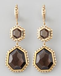 Stephen Dweck | Metallic Smoky Quartz Nouveau Drop Earrings | Lyst