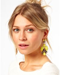 ASOS | Yellow Asos Summer Doorknocker Earrings | Lyst