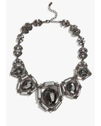Bebe - Black Art Deco Statement Necklace - Lyst