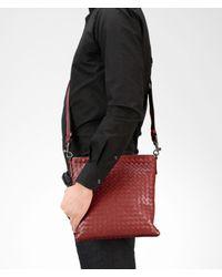 Bottega Veneta Red Brique Intrecciato Vn Cross Body Bag for men