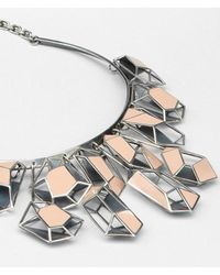 Bottega Veneta Metallic Enamelled Antique Silver Necklace