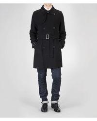 Bottega Veneta - Black Tourmaline Cashmere Coat for Men - Lyst