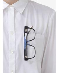 Kris Van Assche - Blue Rubberised Squareframe Optical Glasses for Men - Lyst
