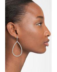 Nadri | Metallic Simulated Pearl And Cubic Zirconia Stick Drop Earrings | Lyst