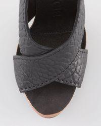 Pedro Garcia Black Chiara Leather Sandal
