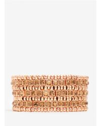Philippe Audibert | Metallic Three-row Bead And Stone Bracelet | Lyst