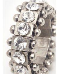 Philippe Audibert | Metallic Crystal Bead Ring | Lyst
