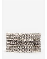 Philippe Audibert | Metallic Phil Three-row Crystal Beaded Bracelet | Lyst