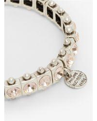 Philippe Audibert | Pink Rhinestone Elastic Bracelet | Lyst