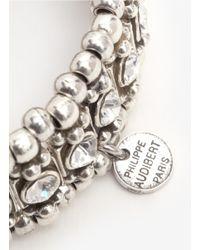 Philippe Audibert - Metallic Roselyne Crystal-and-bead Bracelet - Lyst