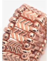 Philippe Audibert - Pink Silver Arrow Beaded Ring - Lyst