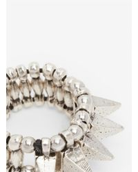 Philippe Audibert - Metallic Spiked Elasticated Ring - Lyst