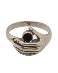 Saint Laurent Metallic Thin Hand Ring for men