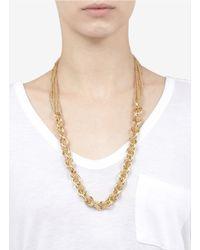 St. John Metallic Multi-chain Necklace