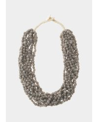 Toast | Gray Multi Strand Necklace | Lyst