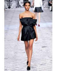 Viktor & Rolf | Black Double Taffeta Bow Dress | Lyst