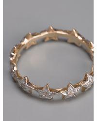 Zoe & Morgan Metallic Eternity Diamond Star Ring