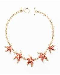 Ann Taylor | Orange Dancing Starfish Necklace | Lyst