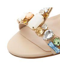 Dune Natural Haylee Heeded Sandals