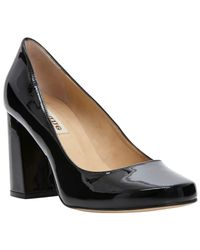 Dune Black Agaze Block Heel Court Shoes
