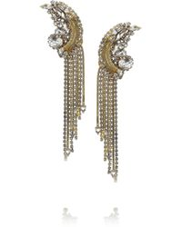 Erickson Beamon | Metallic Glass Pearl Centre Crystal Earrings | Lyst