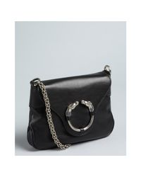 Gucci | Black Leather Horseornament Chain Strap Shoulder Bag | Lyst