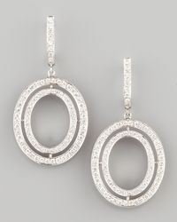Ivanka Trump | White Signature Small Oval Diamond Earrings | Lyst