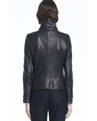 J Brand Black Karle Leather Jacket