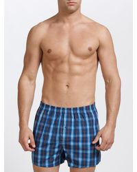 d09a84d63 John Lewis Checks and Stripes Woven Boxer Shorts in Blue for Men - Lyst