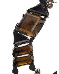 Lanvin - Brown Large Topaz Ribbon Necklace - Lyst