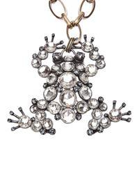 Lanvin Metallic Frog Necklace Or Brooch