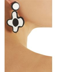 Marni - White Floral Resin Clip Earrings - Lyst