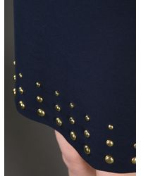 MICHAEL Michael Kors Blue Studded Shift Dress