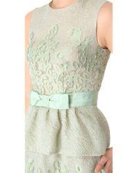 Moschino Green Sleeveless Peplum Dress with Bow