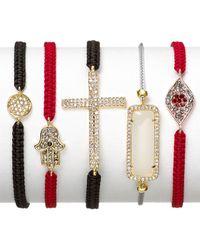 Tai - Red Agate Beaded Slide Bracelet - Lyst