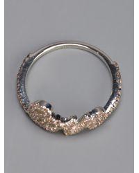 Zoe & Morgan - Metallic Love Lasso Ring - Lyst