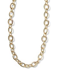 Banana Republic - Metallic Leather Link Layer Necklace - Lyst