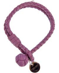 Bottega Veneta - Purple Braided Bracelet - Lyst