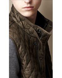 Burberry Natural Diamond Quilted Gilet for men