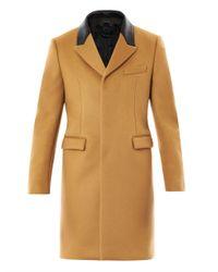 Burberry Prorsum Natural Leather Collar Cashmere Coat for men