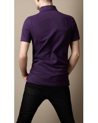 Burberry | Purple Cotton Piqué Polo Shirt for Men | Lyst