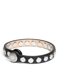 COACH | Brown Skinny Stud Leather Bracelet | Lyst
