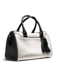 COACH - White Legacy Haley Satchel in Two Tone Leather - Lyst
