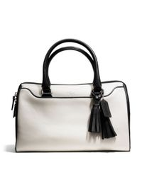 COACH | White Legacy Haley Satchel in Two Tone Leather | Lyst
