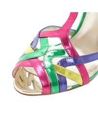 Dune Multicolor Havian Metallic Strappy Heeled Sandals