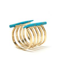 Kelly Wearstler - Metallic Banded Horn Cuff in Turquoise - Lyst